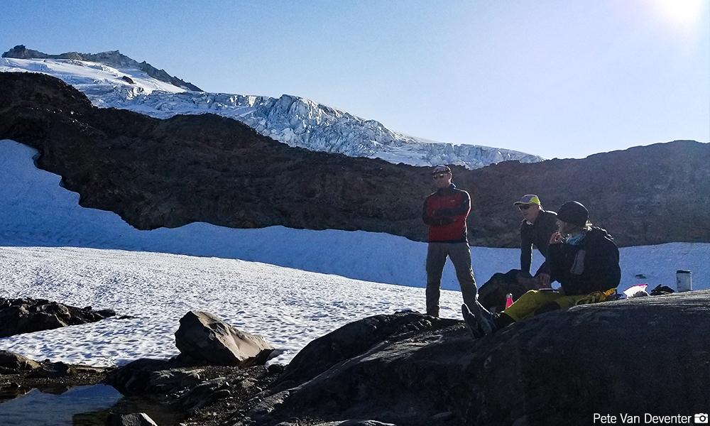 High Camp on Baker's Easton Glacier